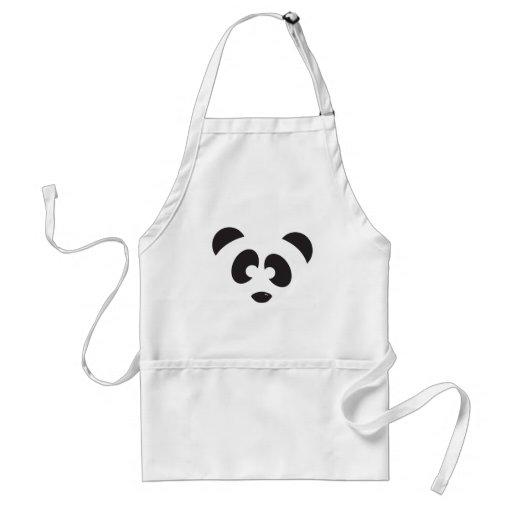 Panda Face Adult Apron