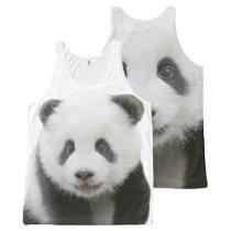 Panda Face All-Over-Print Tank Top