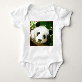 Panda Face Baby Bodysuit