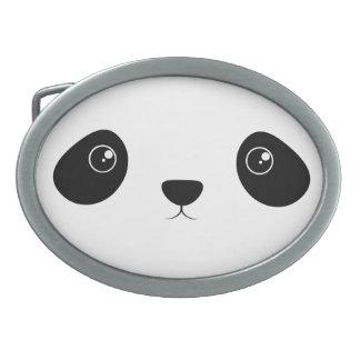 Panda Face Oval Belt Buckle