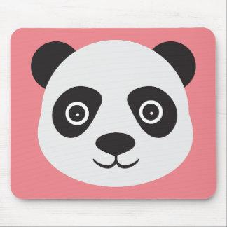 Panda Face Black and White Bear Mouse Pad