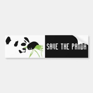 panda face bumper sticker car bumper sticker