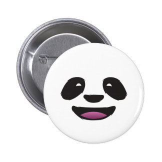 Panda face 2 inch round button