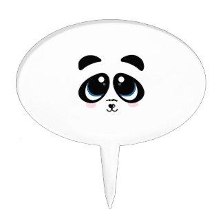Panda Face Cake Topper