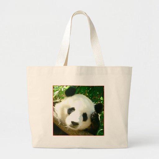 Panda Face Canvas Bag