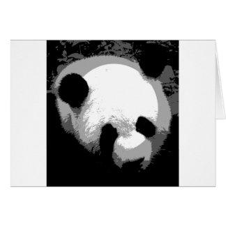 Panda Face Card