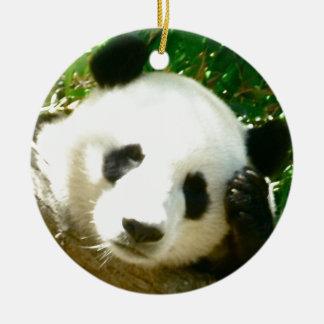 Panda Face Ceramic Ornament