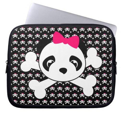 Panda Face & Crossbones Laptop Sleeve