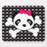 Panda Face & Crossbones Mousepad