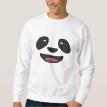 Panda Face - Cute animal wildlife Sweatshirt