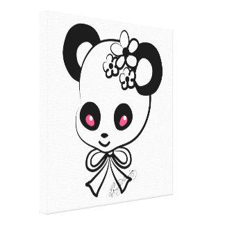 Panda Face Cute Girly Canvas Print
