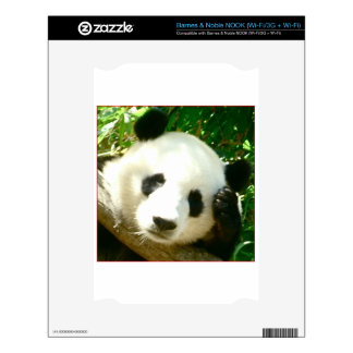 Panda Face Decal For The NOOK