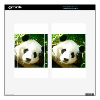 Panda Face Decals For Kindle Fire