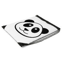 Panda Face Drawstring Backpack