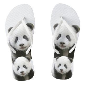 Panda Face Flip Flops