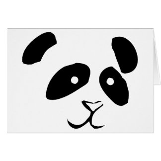 PANDA FACE GREETING CARD