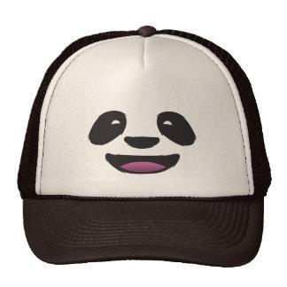 Panda face mesh hats