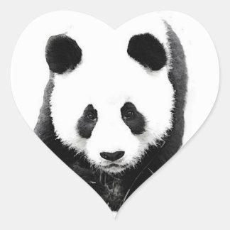 Panda Face Heart Sticker