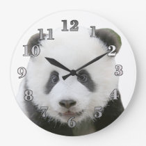 Panda Face Large Clock