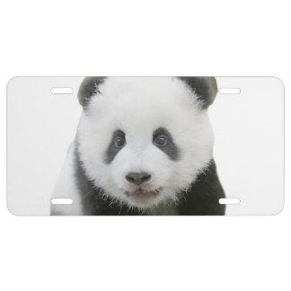 Panda Face License Plate