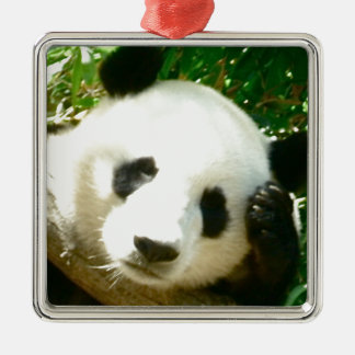Panda Face Metal Ornament