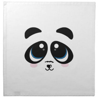 Panda Face Printed Napkin