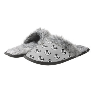 Panda Face Pattern Pair Of Fuzzy Slippers