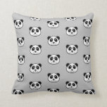 Panda Face Pattern Throw Pillow