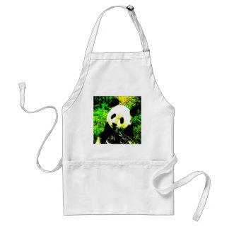 Panda Face Pop Art Aprons