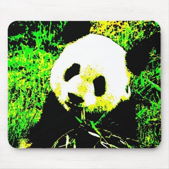 Panda Face Pop Art Mouse Pad