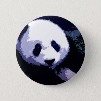 Panda Face Pop Art Pinback Button