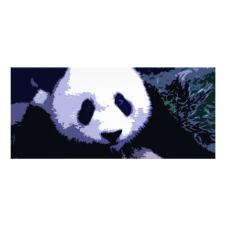 Panda Face Pop Art Rack Card