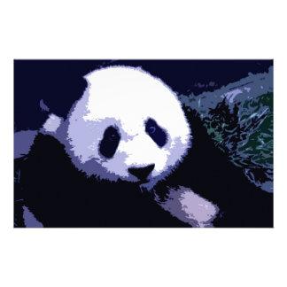 Panda Face Pop Art Stationery