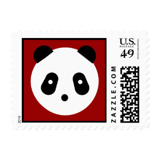 Panda Face Postage Stamp