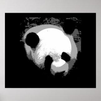 Panda Face Poster Print - Panda Posters
