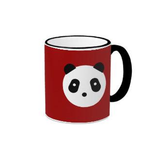 Panda Face Ringer Coffee Mug