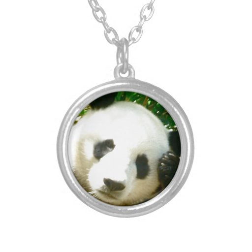 Panda Face Round Pendant Necklace