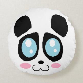 panda face round pillow