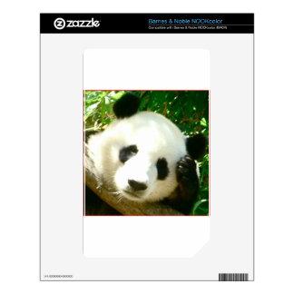 Panda Face Skins For NOOK Color