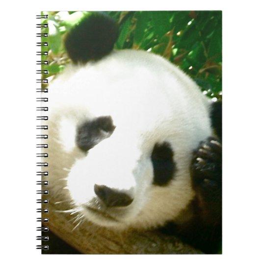 Panda Face Spiral Notebook