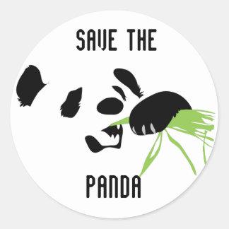 panda face round stickers