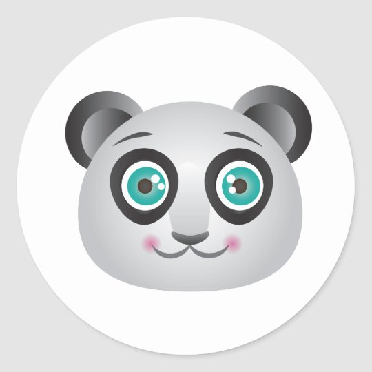 Panda Face Stickers Invisible Background