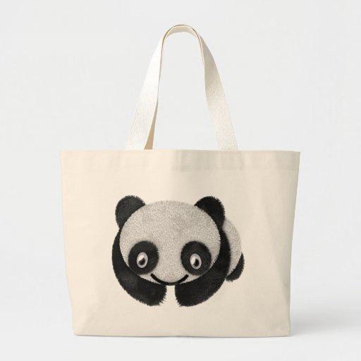 Panda Face Tote Bags