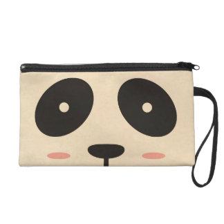 Panda Face Wristlet