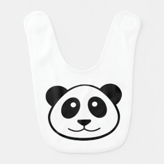 Panda Face Bibs