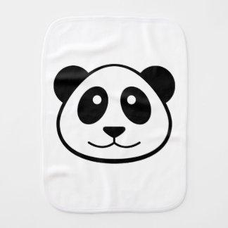 Panda Face Baby Burp Cloth