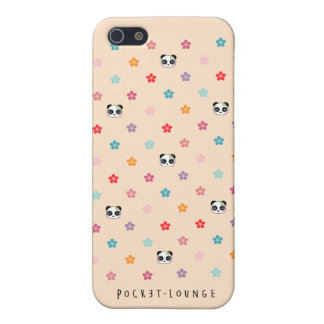 Panda faces and flower print iPhone SE/5/5s cover