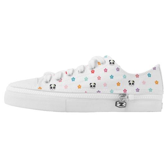 00d9f68b4d8 Panda faces and flower print Low-Top sneakers