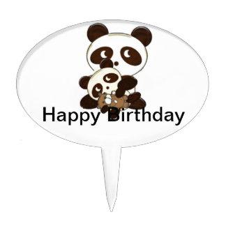 panda family cake topper