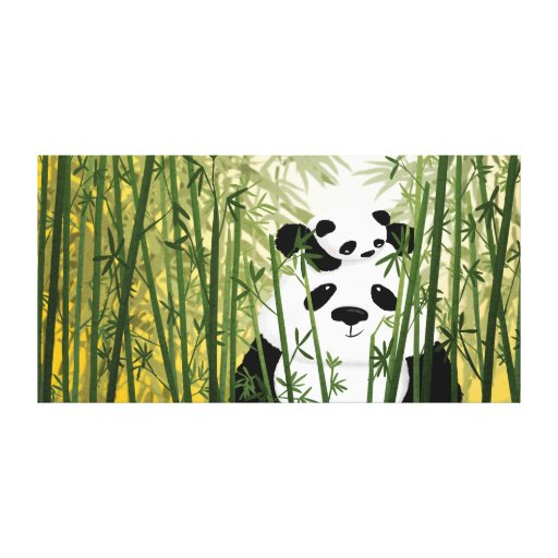 """Panda Family Extra Large """"Gentle Giant"""" Gallery Wrap Canvas"""